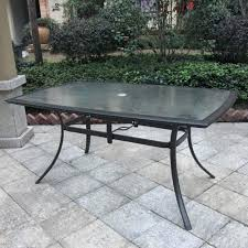 round glass top patio table glass top patio table home design