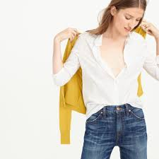 j crew tall boy shirt in classic white in white lyst