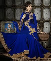 blue color anarkali frocks 2015 most stylish dresses suitanarkali in