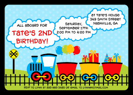 2nd Birthday Invitation Card Train Birthday Invitations Marialonghi Com