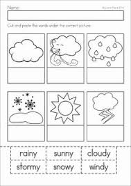 weather picture word cards kindergarten weather and words