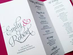 folded wedding program tri fold program carbon materialwitness co