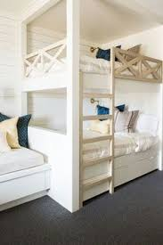 Bunk Room White Bunk Beds White Bunk Bed With Navy Bedding Bunk - Kids built in bunk beds