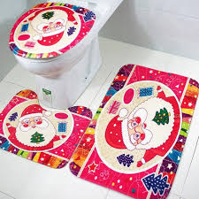 Santa Claus Rugs Fengrise Santa Claus Rug Toilet Seat Cover Bathroom Set Merry