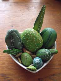 cactus home decor painted rock cactus pattern for home decor arts and crafts ideas