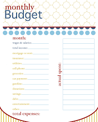 10 best images of basic budget sheets to print simple budget