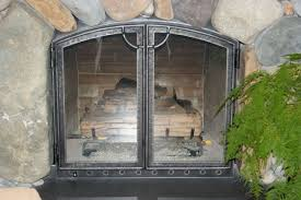 tempered glass for fireplace doors living room pleasant fireplace screens with doors design ideas