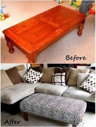How To Make An Upholstered Ottoman by Fabric Coffee Table Ottoman Foter