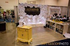 wedding expo backdrop bridal show booth paper flowers yellow and gray las vegas