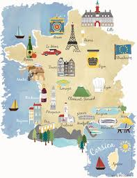 marseilles map illustrated map showing major cities of including