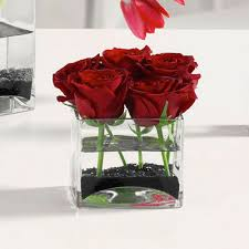 rose in glass roses in glass cube boka shoppe local florist bement white heath