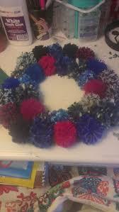 pom pom wreath tutorial u2013 rr and j
