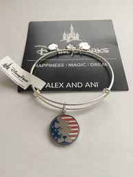 Mickey Mouse Flag Disney Parks Mickey Mouse Flag Bangle By Alex And Ani Silver