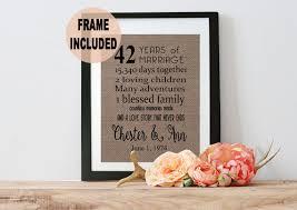 42 ans de mariage 42ème anniversaire cadeau 42ème anniversaire cadeau 42 ans