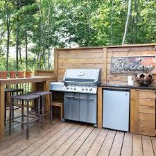 cuisine d été en bois inspiration cuisine d été toute en bois patio inspirations