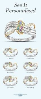 personalized rings for mothers two stones ring ring dual birthstone ring