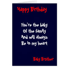 baby brother birthday greeting cards zazzle