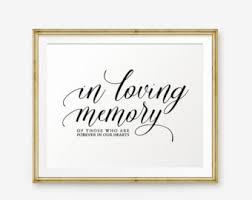 in loving memory wedding in loving memory wedding sign wedding memorial sign