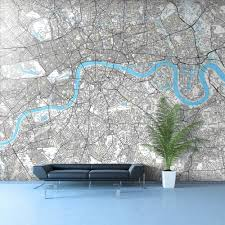 Custom Maps Modern Living Room Interior Decorating Ideas With Custom Maps
