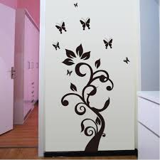 tree butterfly flower wall paper decal wallpaper decor room vinyl tree butterfly flower wall paper decal wallpaper decor room vinyl removable mural diy art stickers muursticker home decoration in wall stickers from home