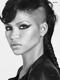 braids with half shaved head girl goth with half shaved head long half shaved hairstyle with