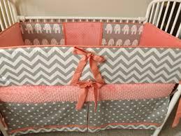 Pink Chevron Crib Bedding Bedding Coral Turquoise Chevron Baby Bedding Custom Baby