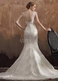robe blanche mariage robe de mariage sirène blanche en dentelle à traîne courte avec