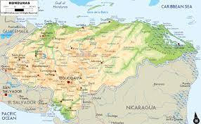 Cabo Map Physical Map Of Honduras Ezilon Maps