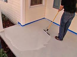 Concrete Step Resurfacing Products by How To Stamp A Concrete Porch Floor How Tos Diy