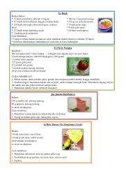contoh teks prosedur membuat jus mangga resep aneka minuman
