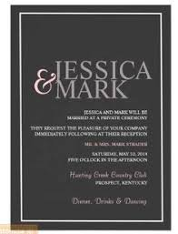 Reception Only Invitation Wording Samples Wedding Invitation Create Online Rectangle Landscape Luxurious