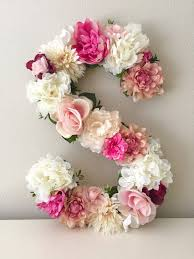 25 unique flower letters ideas on baby room letters