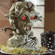 how to make moving halloween props medusa animated halloween bust the green head