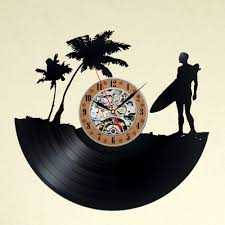 creative clocks surfers creative vinyl record wall clock christmas gift