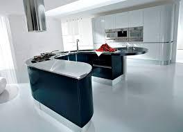 table haute ilot central contemporary kitchen wooden lacquered artika pedini