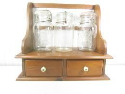 mason jars spice rack kitchen cabinet folk art spice box farm