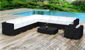canapé d angle de jardin grand salon de jardin en résine tressée design