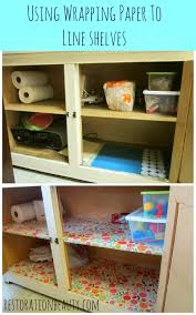 Kitchen Cabinet Paper Liner Restoration Beauty Using Wrapping Paper To Line Shelves