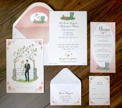 wedding invitations kilkenny heidi gearóid illustrated in invitation suite wedding