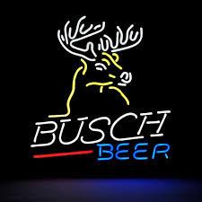 busch light neon sign desung brand new busch light deer neon sign handcrafted real glass