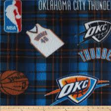 Okc Thunder Home Decor Nba Fleece Oklahoma City Thunder Multi Discount Designer Fabric