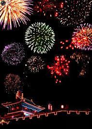 fireworks lantern fireworks explode during a celebration of the lantern festival in