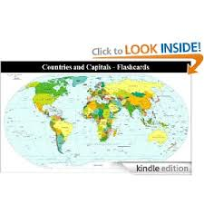 Flashcards Kindle Countries And Capitals Of The World Flashcards Kindle 1 99
