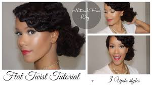 Chunky Flat Twist Hairstyles by The Best Flat Twist Out Tutorial Youtube