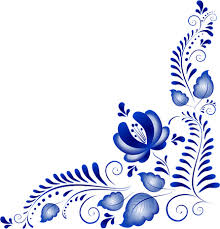 blue flower ornaments corner vector things to do