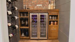 Wine Cabinet With Cooler by Epic Built In Wine Cooler Youtube