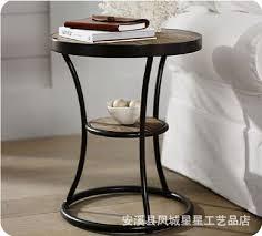 retro wood wrought iron coffee table sofa side iron wood loft