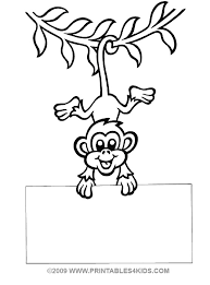 monkey hanging coloring printables kids u2013 free word