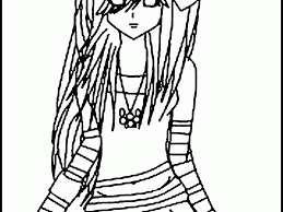 download emo coloring pages ziho coloring