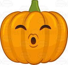 a halloween pumpkin blowing kisses cartoon clipart vector toons